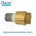 Zpětný ventil mosazný pružinový s košem 1