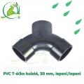 PVC T-éčko kulaté, 50 mm, lepení/lepení