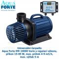 Univerzální čerpadlo Aqua Forte DM-10000 Vario, s regulací výkonu, příkon 15-85 W, max. průtok 4-9 m3/h, max. výtlak 5 m