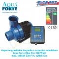 Úsporné gravitační čerpadlo s externím ovladačem Aqua Forte Blue Eco 240 Watt, max. průtok 23m³/h, výtlak 5 m