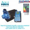 Úsporné gravitační čerpadlo s externím ovladačem Aqua Forte Blue Eco 500 Watt, max. průtok 42m³/h, výtlak 11 m