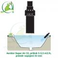 Aerátor Super Air 32, průtok 3-5,5 m3/h, průměr napojení 32 mm