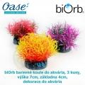 biOrb barevné koule do akvária, 3 kusy, výška 7cm, základna 4cm, dekorace do akvária