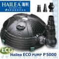 Profesionální jezírkové a filtrační čerpadlo Hailea 5000 ECO PLUS,4,800 l/hod., 54 Watt, max. výtlak 2,1 m