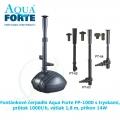 Fontánkové čerpadlo Aqua Forte FP-1000 s tryskami, průtok 1000l/h, výtlak 1,8 m, příkon 14W