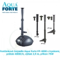 Fontánkové čerpadlo Aqua Forte FP-4000 s tryskami, průtok 4000l/h, výtlak 2,9 m, příkon 75W