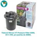 Tlaková filtrace VT Pressure Filter 6000, UV-C 9W, pro jezírka do 6000L