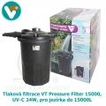 Tlaková filtrace VT Pressure Filter 15000, UV-C 24W, pro jezírka do 15000L