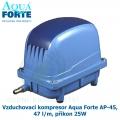 Vzduchovací kompresor Aqua Forte AP-45, 47 l/m, příkon 25W