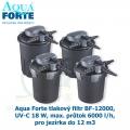 Aqua Forte tlakový filtr BF-12000, UV-C 18 W, max. průtok 6000 l/h, pro jezírka do 12 m3
