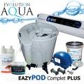 Eazy Pod Complete PLUS 55, filtrace Eazy Pod Air, včetně kompresoru Airtech 70 l, rozvodů a vzduchovacích kamenů, UV profi zářič evo 55 Watt, bakterie Pure BOMB a Pure POND BLACK Balls