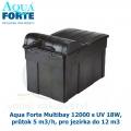Filtrace Aqua Forte Multibay 12000 s UV 18W, průtok 5 m3/h, pro jezírka do 12 m3