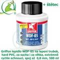 Griffon lepidlo  WDF-05 na trubky, hard PVC, za sucha i za vlhka, extrémně rychle schnoucí, spoj až 0,8 mm, 500 ml + štětec