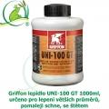 Griffon lepidlo UNI-100 GT 1000ml, určeno pro lepení větších průměrů, pomaleji schne, se štětcem
