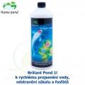 Briliant Pond 1l - k rychlému projasnění vody, odstranění zákalu a fosfátů na 30-50 m3