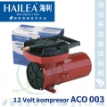 Pístový kompresor Hailea ACO 003 12V, 60 litrů/min., 25 Watt