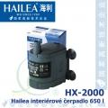 Interiérové univerzální čerpadlo Hailea HX-2000, 650 litrů/hod, max. výtlak 1,0 m, příkon 10W,