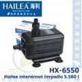 Interiérové univerzální čerpadlo Hailea HX-6550, max. průtok 5880 l/h, výtlak 4,0 m, příkon 200W,