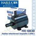Interiérové univerzální čerpadlo Hailea HX-6830, max. průtok 3000 l/h, výtlak 3,2 m, příkon 60W,