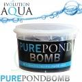 Pure Pond BOMB + Bacterial Pond Liquid ZDARMA, čistící a startovací bakterie pro bio-rovnováhu v jezírku,  fungující po celý rok od 4 °C, 1 ks pro 10-80 m3