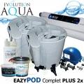 Double Eazy Pod Complete PLUS 110 Watt, 2xEazy Pod, 2x profi UV zářič evo 55 Watt, kompresor Airtech 70 l, vzduchovací rozvody, bakterie Pure Pond Black Balls a Pure Pond BOMB ACTIVE