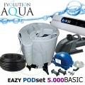 Eazy POD set BASIC 5000, Eazy POD, Airtech 70l, čerpadlo 6000l, evo 30 Watt, bakterie, hadice, ztahováky