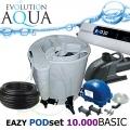 Eazy POD set BASIC 10000, Eazy POD, Airtech 70l, čerpadlo 8000l, evo 30 Watt, bakterie, hadice, stahováky