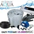 Eazy POD set BASIC 15000, Eazy POD, Airtech 70l, čerpadlo 12000l, evo 30 Watt, bakterie, hadice, ztahováky