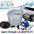 Eazy POD set PROFI 15000, Eazy POD, Airtech 70l, čerpadlo 10000l, evo 30 Watt, bakterie, hadice, ztahováky