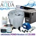 EAZY Universal PLUS POND filtration set 25000PLUS, Eazy POD, Airtech 70l, evo 55, skimmer Biosys, bakterie, pro jezírka 10-50m3