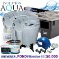 EAZY Universal POND filtration set 50000PLUS, 2xEazy POD, Airtech 70l, 2x evo 55, 1x skimmer Biosys, bakterie, pro jezírka 20-100 m3