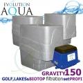 LAKES, BIOTOP&GOLF FILTRATION SYSTEM 150 GRAVITY, 3xCetus, 1x Airtech 150
