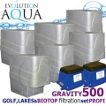 LAKES, BIOTOP&GOLF FILTRATION SYSTEM 500 GRAVITY, 6xCetus, 1x Airtech 130 + 1x Airtech 150