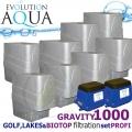 LAKES, BIOTOP&GOLF FILTRATION SYSTEM 1000 GRAVITY, 8xCetus, 2x Airtech 150