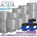LAKES, BIOTOP&GOLF FILTRATION SYSTEM 2000 GRAVITY, 10xCetus,3x Airtech 150