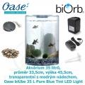 Oase biUbe 35 L Pure Blue Tint LED Light - Akvárium 35 litrů, průměr 33,5cm, výška 45,5cm, transparentní s modrým nádechem