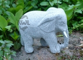 Slon 25 cm, šedá žula