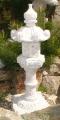 Kasuga - japonská lampa, žulová, výška 75 cm, cca 80-85 cm s podstavcem, šedá nebo červená žula