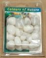 Polodrahokam Milky White 10-30 mm, in Blister