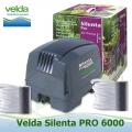 Vzduchovací set Velda Silenta 6000, 100 litrů/min.., včetně 2 ks GIANT vzduchovacích kamenů a 2x5 m hadiček