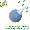 Vzduchovací kámen keramický, koule 40 mm, napojení 4-9 mm