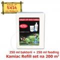 Náhradní sada do množírny bakterií Kamiac Refill set 200, 250 ml Bacteria Nutrient + 250 ml Micro-bacteria