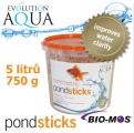 EA Pondsticks, celoroční krmivo čistící jezírka, vysoce kvalitní a univerzální, vhodné pro všechny druhy ryb, balení 5000 ml