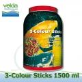 1500 ml 3-color Sticks Premium, krmiva pro koi a okrasné ryby jaro-podzim