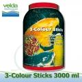 3000 ml 3-color Sticks Premium, krmiva pro koi a okrasné ryby jaro-podzim