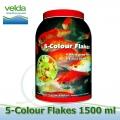 1500 ml 5-color Flakes-vločky, celoroční krmiva pro malé a mini koi, okrasné a akvarijní ryby