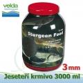 3000 ml jeseteří krmivo o velikosti 3 mm, pro malé i velké jesetery, pro celoroční krmení