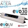 UVC zářič Evolution Aqua EVO 30 Watt PLUS - drain, profi UV zářič s vypouštěcím ventilem