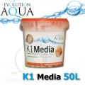Evolution Aqua K1 (Kaldnes) filtrační médium 50 litrů, nejlepší filtrační médium pro koi, jezírka a akvaristiku