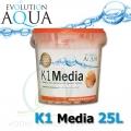 Evolution Aqua K1 (Kaldnes) filtrační médium 25 litrů, nejlepší filtrační médium pro koi, jezírka a akvaristiku